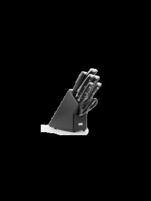 wusthof classic ikon messenblok zwart 7-delig