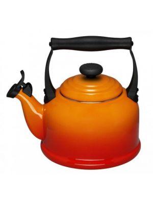 le creuset fluitketel 2.1 liter oranje